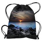 Dark Seaview Drawstring Bag
