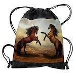 Wild Horses Drawstring Bag