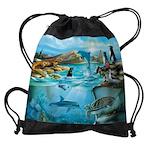 Galapagos Animals Drawstring Bag