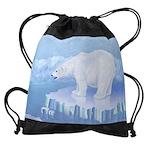 Polar Bear Drawstring Bag