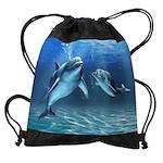 Dolphin Dream Drawstring Bag