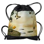Butterfly Lake Drawstring Bag