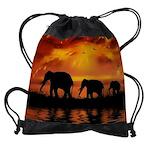 Elephant Safari Drawstring Bag