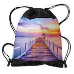 Colorful Pier Drawstring Bag