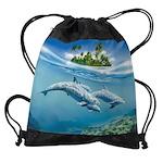 Tropical Island Fantasy Drawstring Bag