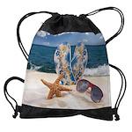 Summer Beach Vacation Drawstring Bag