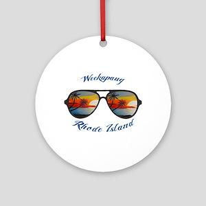 Rhode Island - Weekapaug Round Ornament