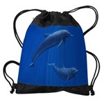 Dolphin Couple Drawstring Bag