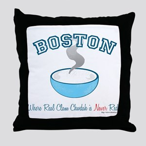 Boston Clam War Throw Pillow