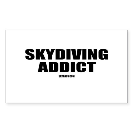 SKYDIVING ADDICT Rectangle Sticker