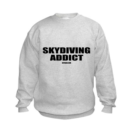 SKYDIVING ADDICT Kids Sweatshirt