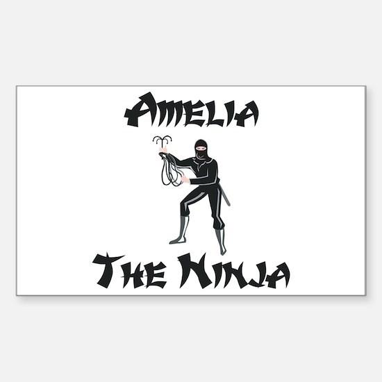 Amelia - The Ninja Rectangle Decal