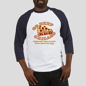 Deep Dish Pizza Baseball Jersey