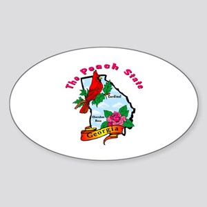Georgia Pride! Oval Sticker