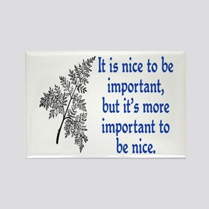 IMPORTANT TO BE NICE Rectangle Magnet