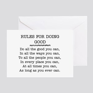 RULES FOR DOING GOOD Greeting Card