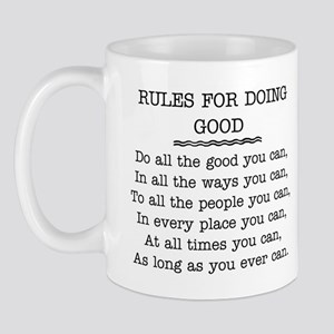 RULES FOR DOING GOOD Mug