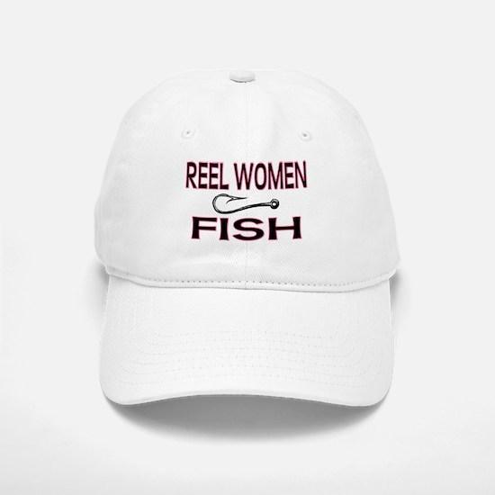 Reel Women Fish Baseball Baseball Cap