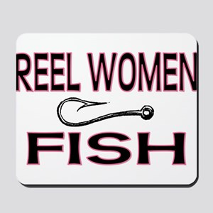 Reel Women Fish Mousepad