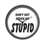 Stuck On Stupid<br> Wall Clock