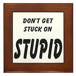 Stuck On Stupid<br> Framed Tile