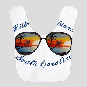 South Carolina - Hilton Head Is Polyester Baby Bib