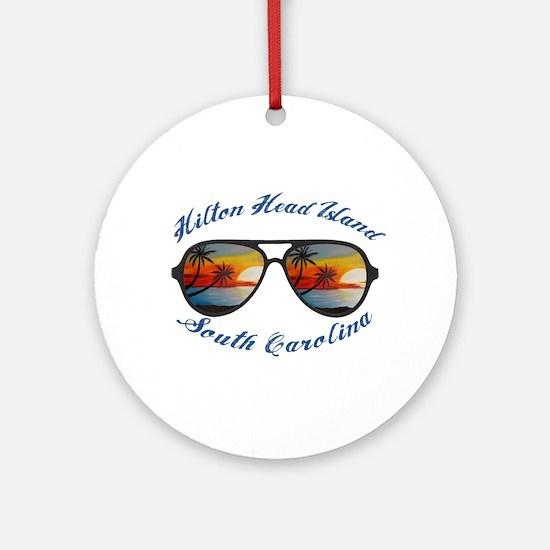 South Carolina - Hilton Head Island Round Ornament