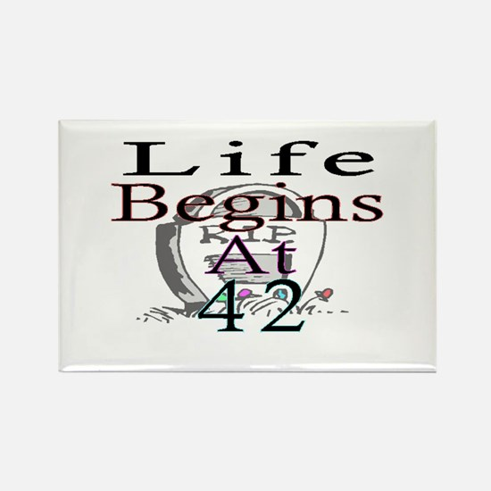Cute 42 years Rectangle Magnet