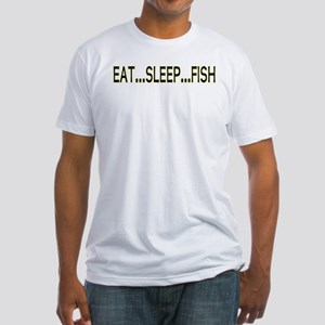 Eat Sleep Fish Fitted T-Shirt
