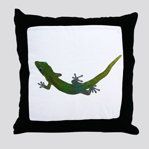 Day Gecko Throw Pillow