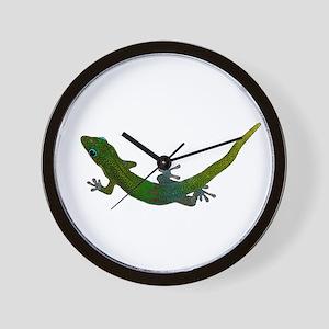 Day Gecko Wall Clock