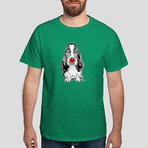 Red Nose Basset Dark T-Shirt