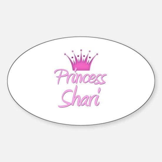 Princess Shari Oval Decal