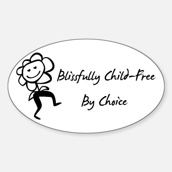 Blissfully Child-Free Oval Decal