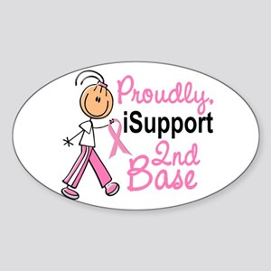 I Support 2nd Base 1 (SFT BC) Oval Sticker