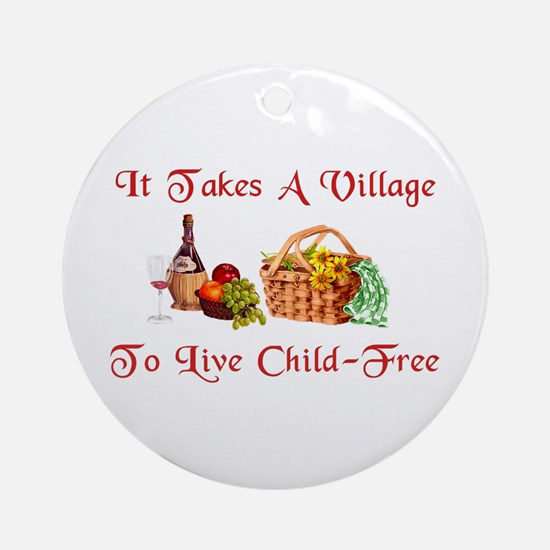 Child-Free Village Ornament (Round)