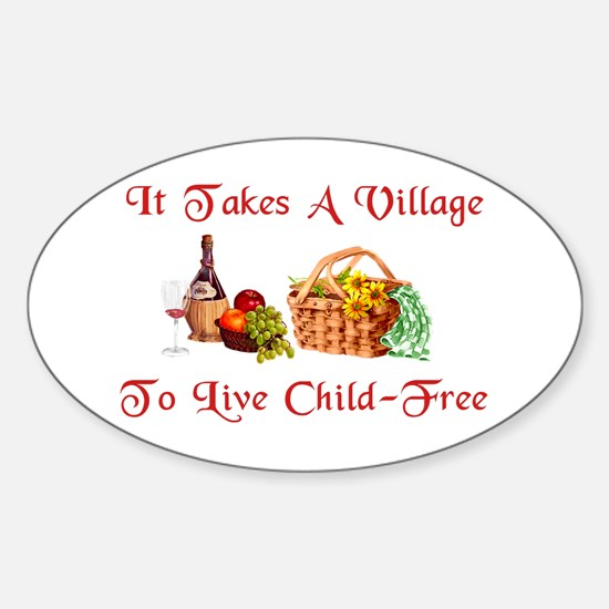 Child-Free Village Oval Decal