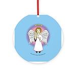 I-Love-You Angel Blue Ornament (Round)