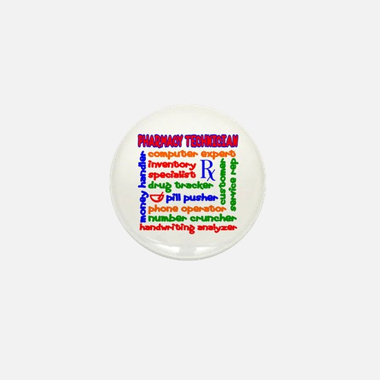 Pharmacy Technician Mini Button