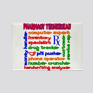 Pharmacy Technician Rectangle Magnet