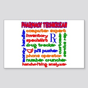 Pharmacy Technician Rectangle Sticker