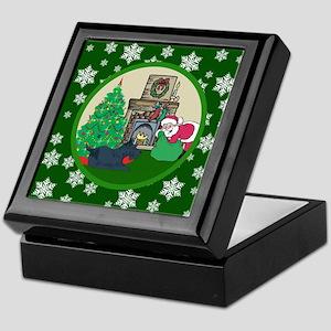 Santa & A Scottie Keepsake Box