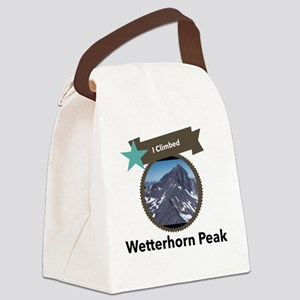 Wetterhorn Peak Canvas Lunch Bag