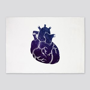 Vintage space heart gray anatomy nu 5'x7'Area Rug
