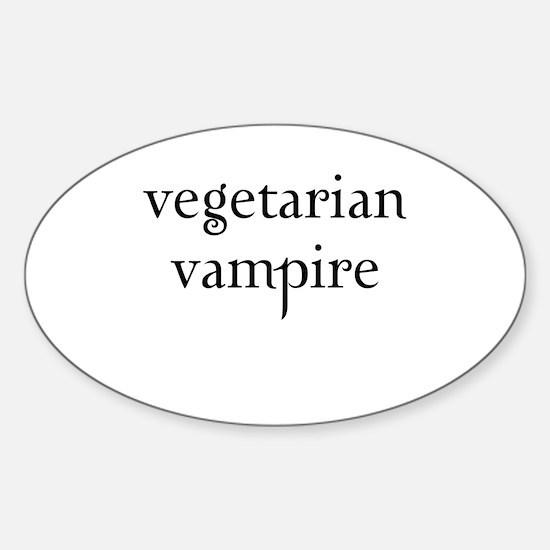 Twilight - Vegetarian Vampire Oval Decal
