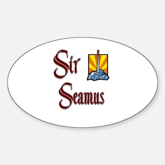 Sir Seamus Oval Decal
