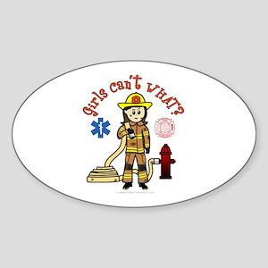 Custom Firefighter Oval Sticker