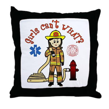 Custom Firefighter Throw Pillow