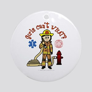 Custom Firefighter Ornament (Round)