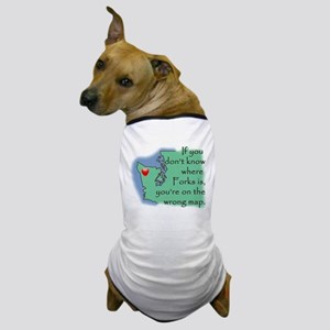 Forks Map Dog T-Shirt